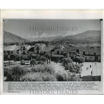 1962 Press Photo Huaraz, Peru Huascaran Mountains near Avalnache Site