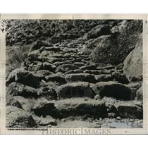 1953 Press Photo Lake Titicaca, Puno, Peru Stairway of the Icas, Upper Amazon