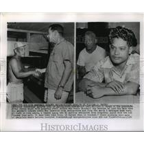 1954 Press Photo Rongelap Atoll Natives, Marshall Islands Affected by H-Bomb