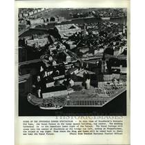Press Photo Old Town Stockholm, Sweden Aerial View - ftx00828