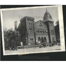 1926 Press Photo 1st Congregational Church Closed
