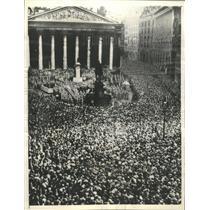 1935 Press Photo Troops memorial London Royal exchange
