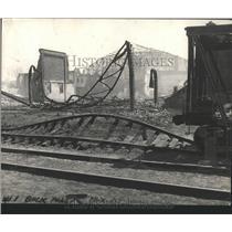 1934 Press Photo ruins Dexter Park Pavilion in Chicago