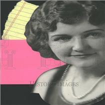 1927 Press Photo Wife of William Hayden Woman