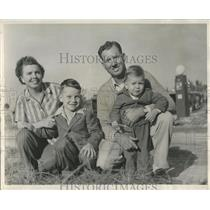 1949 Press Photo Mr. &Mrs. Bill Hunter & Family