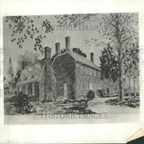 1929 Press Photo Washington architect restoration Home