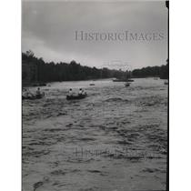 1954 Press Photo Chippewa River Canoe Race, Wisconsin - mja52605