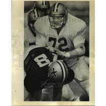 1988 Press Photo New Orleans Saints- Saints training camp. - noa05741