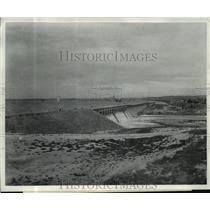 1874 Press Photo Minidoka Irrigation receives water from American Falls Dam