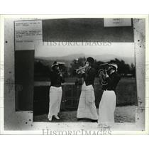 1913 Press Photo Crescent store employees playing instruments at picnic