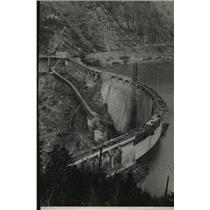 1930 Press Photo Diablo Dam Lake completed on the Skagit River - spa38904