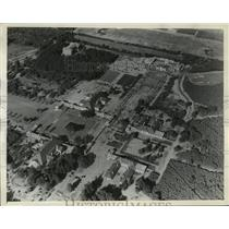 1935 Press Photo Air View of Saratoga Spa, New York's Therapeutic Health Center
