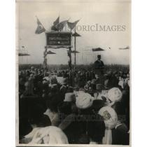 1924 Press Photo Emir of Afghanistan Speaking Against England in India