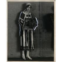 1929 Press Photo Romanian Woman Ann M. Radu - neo01023