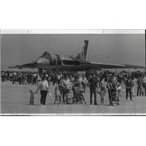 1976 Press Photo Attraction was Raf-Vulcan Bomber at Fairchild Open House