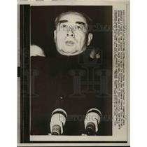 1957 Press Photo Communist China Premier Chou En-Li in Peiping - nep03510