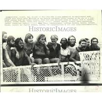 1973 Press Photo Crew of Raft Acali Arrive in Cozumel From Canary Islands