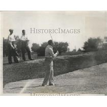 1933 Press Photo Joe Kirkwood at National Open golf near Chicago Illinois