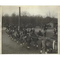 1930 Press Photo Anual Society circus held at Fort Myer Virginia tandem horses