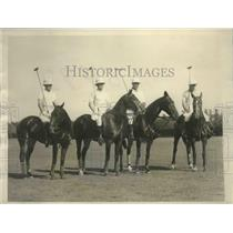 1928 Press Photo Argentine Polo Team Preparing for Series of Matches with Team