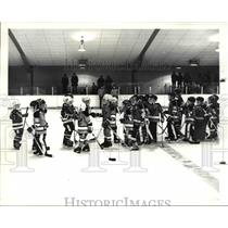 1984 Press Photo The kids player of hockey - cva63371