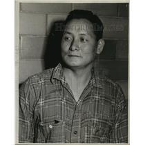 1946 Press Photo Koki Osugi Japanese Prisoner in McNeil Island, Washington