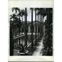 1942 Press Photo Rio de Janiero, Brazil, Palacio Itamarati - ftx01045