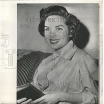 1950 Press Photo Colleen Townsend newsmen actress old - RRY46901