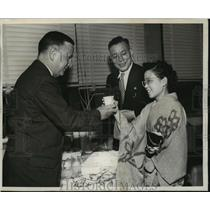 1961 Press Photo Miss F Katsumoto in Seattle for Japan Peace Treaty Conference