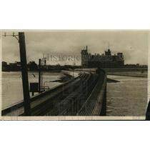 1918 Press Photo Zeebrugge, Belgium Raid Railroad World War I - ftx01380