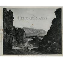 1940 Press Photo Thingvellir-Reykjavik Road, Iceland - ftx01389