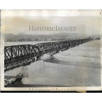 1944 Press Photo Ohi Railway Bridge, River Chi, Shiozuoka, Japan - ftx01394