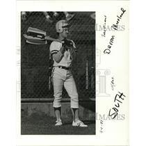 1987 Press Photo Derron Moreland of Putman High School baseball - ora61172