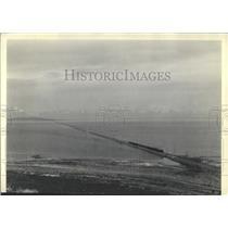 1938 Press Photo Lucin Cutoff Across Great Salt Lake