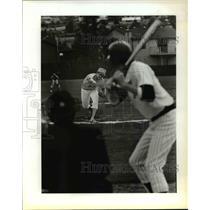1984 Press Photo Andy Miller Pitching - ora63150