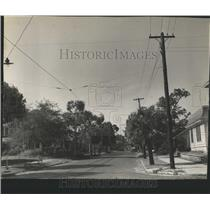 1940 Press Photo Florida Streets - Beautification