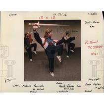 1991 Press Photo David-Dorian Ross Tai Chi Medal Winner Pooschke Epstein Class