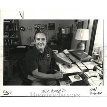1985 Press Photo Andy Pienovi Longtime Baseball Coach Jefferson High - ora76619