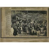 1970 Press Photo Gaerdet Park Free Music Festival