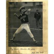 1985 Press Photo Columbia's Tony Sanseri delivers pitch - ora81147