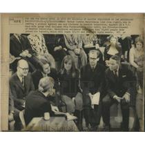 1972 Press Photo Swedish TV Protestor Pastor Interview