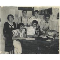1934 Press Photo Hustle Bustle Community Center school