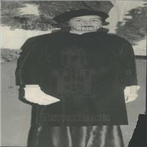 1934 Press Photo Mrs Nancy Lee Black Top White Glouse