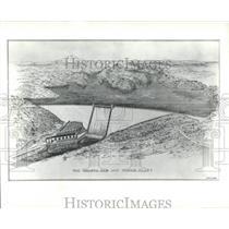 1938 Press Photo Shasta Dam Power Plant Storage Tall