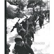 1965 Press Photo School Children Skiing Excursion Japan