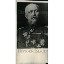 1924 Press Photo General Eric Van Ludeudorff