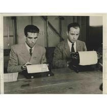 1932 Press Photo Greek Hurdler Evangelos Miropoulos & Coach Otto Simitzek