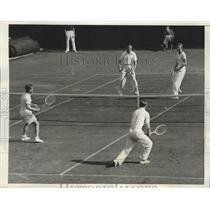 1938 Press Photo Adrian Quist, Jack Bromwich, Verne Hughes, Mort Ballagh