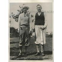 1933 Press Photo Clive Alford, Douglas Dodge at golf tournament in Bermuda