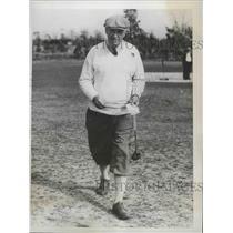 1937 Press Photo EC Keating at 14th Seniors Golf at Pinehurst NC - nes53483